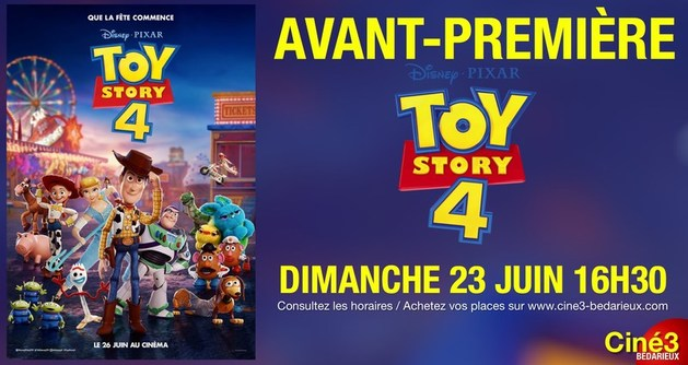 AVANT-PREMIERE : TOY STORY 4
